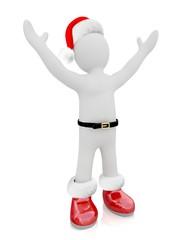 3D Santa Claus puppet