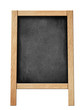 standing blackboard for your offer or menu isolated on white