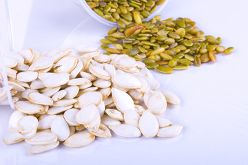 Pumpkin seeds, collection of loose products