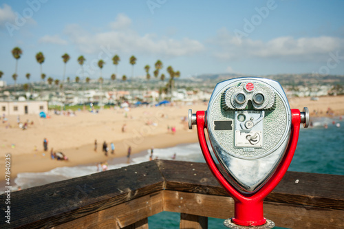 Coin operated telescope in Newport beach, CA