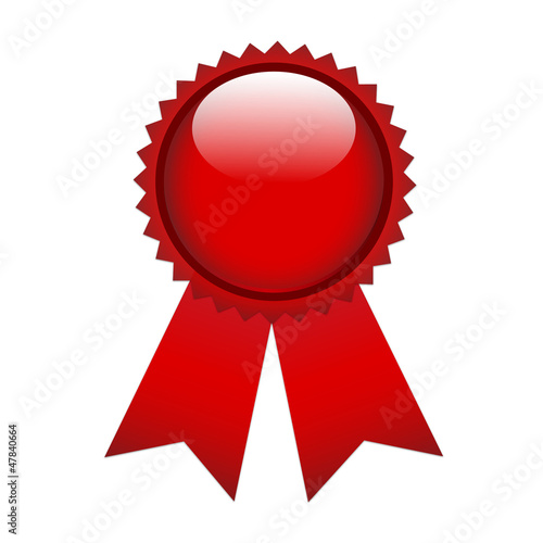 Red prize ribbon
