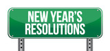 sign announcing 'New Year's Resolutions'