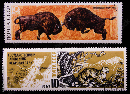 Poster Postage stamp