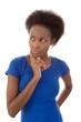Skeptische Afrikanerin