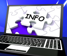 Info Puzzle On Laptop Shows Online Assistance