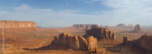 Wonderfull Monument Valley aerial sky view from balloon