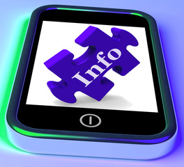 Info On Smartphone Shows Information Providing