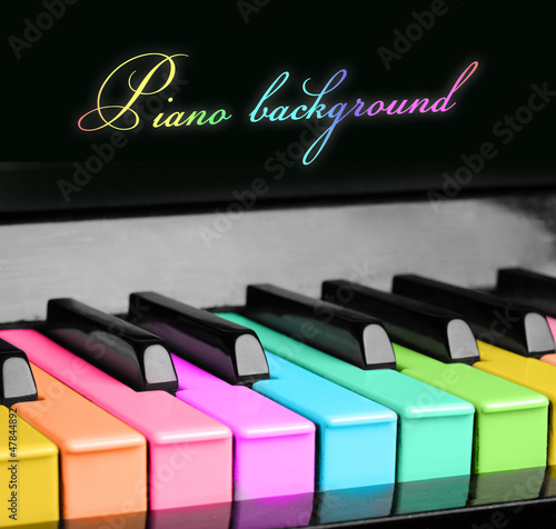 rainbow piano background