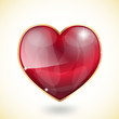 glossy heart with sparkles