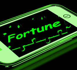 Fortune On Smartphone Shows Mobile Fortune Teller