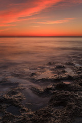 Pose longue en mer méditerranée