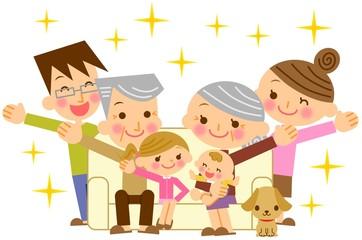 幸せ家族 三世代