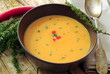 Carrot and pumpkin soup with thyme, vegetable and veg meal