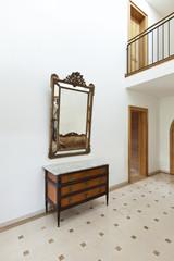beautiful apartment, interior, corridor, antique furniture
