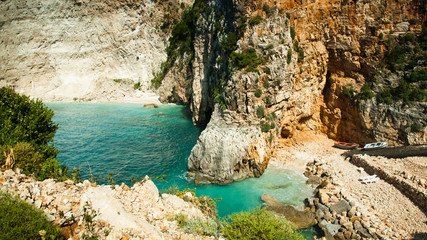 Beautiful bay of Zante, greek Island