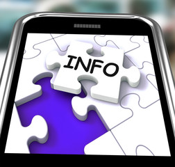 Info On Smartphone Showing Advisory