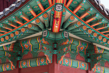 Decor of village house In Changgyeonggung Palace, Seoul
