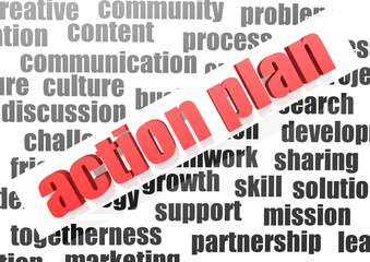 Business work of action plan