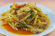 Bamboo shoots curry with crispy pork