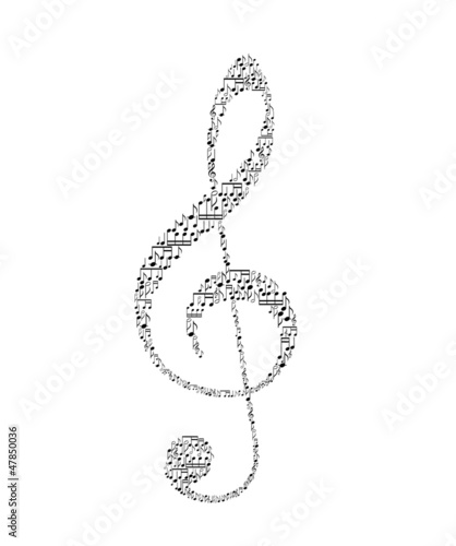 treble clef - vector