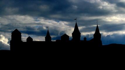 Ukraine Kamianets Podilskyi clouds