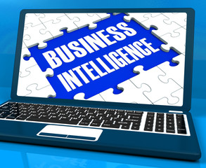 Business Intelligence On Laptop Showing Collecting Client Inform
