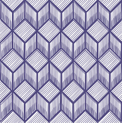 abstract geometric pattern of cubes