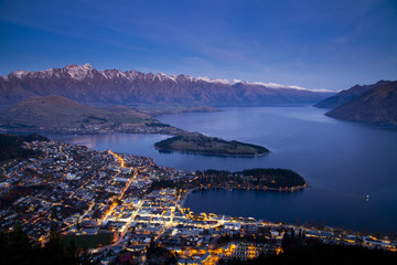Twilight at Queentown, New Zealand