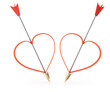 arrows and heartshapes