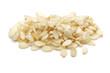 white sesame seeds on a white background