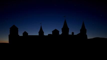 Ukraine Kamianets Podilskyi sunrise