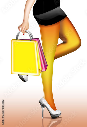 Frau geht Shoppen