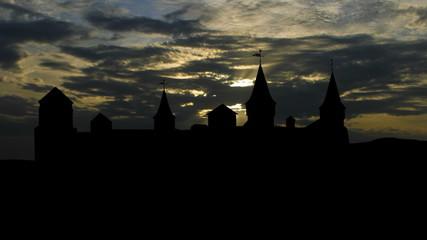Ukraine Kamianets Podilskyi sunset