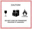 Leinwandbild Motiv Caution of transportation