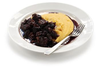 beef stew with polenta