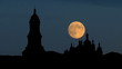 Ukraine Kiev Pechersk Lavra moonrise