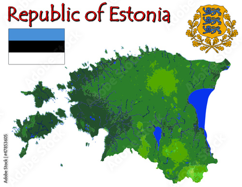 Estonia Europe national emblem map symbol motto