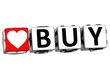 3D Love Buy Button Click Here Block Text