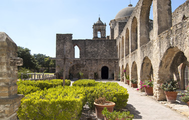 The Convento in mission San Jose, San Antonio, Texas, USA