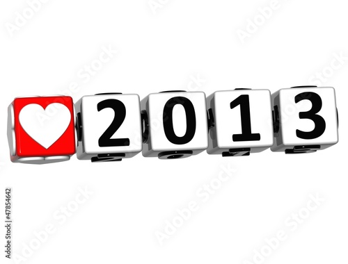 3D Love 2013 Button Click Here Block Text