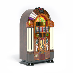 majestic retro jukebox 3d illustration