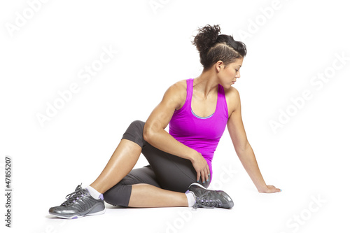 Foto op Plexiglas Fitness Young woman in yoga pose