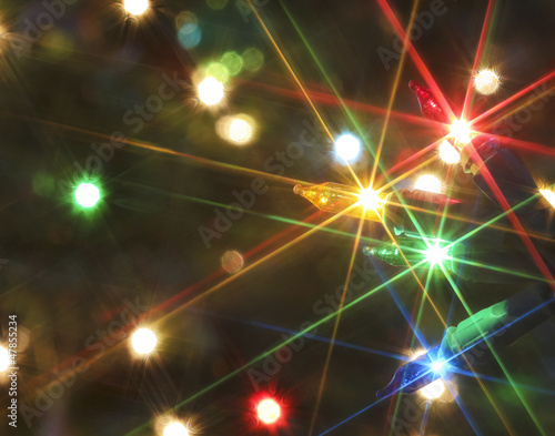 An Electric Christmas Light Starry Abstract Shot