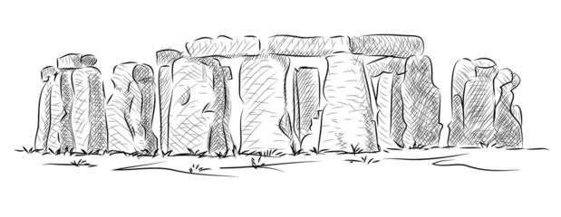 Vector World famous landmark collection : Stonehenge, England