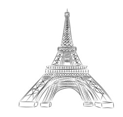 Vector World famous landmark collection : Eiffel tower , Paris