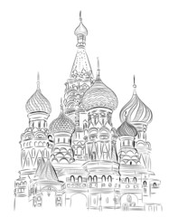 Vector World famous landmark collection : St. Basil, Moscow