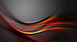 Awesome elegant red fractal waves on grey background