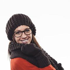 Winterliches Lächeln
