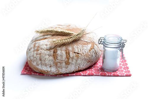 Plexiglas Brood Brot und Salz