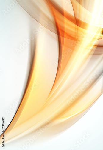 Abstract waves of orange light